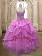 Sweet Beaded and Ruffled Layers Quinceanera Dress in Lilac for Spring SWQD158-6FOR