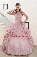 2015 Sweet Spaghetti Straps Quinceanera Dresses in Pink XFNAO237FOR