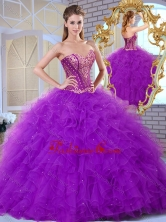2016 Inexpensive Sweetheart Ruffles and Appliques Sweet 16 Gowns SJQDDT375002-1FOR