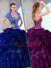 2016 Luxurious Ball Gown Sweetheart Quinceanera Dresses with Ruffles and Appliques QDDTK1002-2FOR