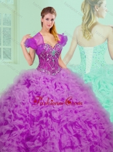 2016 New Style Sweetheart Sweet 16 Dresses with Beading and Ruffles SJQDDT361002FOR