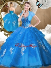 2016 Perfect Ball Gown Sweet 16 Dresses with Beading and Appliques SJQDDT480002-1FOR
