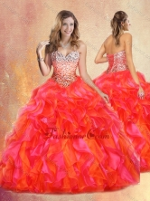 2016 Pretty Ball Gown Multi Color Sweet 16 Gowns with Beading and Ruffles SJQDDT434002FOR