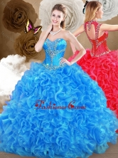 2016 Pretty Blue Sweet 16 Gowns with Beading and Ruffles SJQDDT469002-1FOR