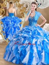 2016 Pretty Multi Color Quinceanera Gowns with Ruffles and Beading SJQDDT486002-2FOR