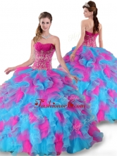 2016 Pretty Sweetheart Beading and Ruffles Quinceanera Dresses YYPJ001FOR