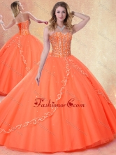 2016 Simple Ball Gown Sweetheart Beading Sweet 16 Dresses SJQDDT406002FOR