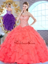 2016Beautiful Ball Gown Beading and Ruffles Quinceanera Gowns SJQDDT379002-1FOR