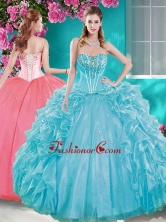 Beaded Bodice Aqua Blue Quinceanera Gown with Removable Skirt SJQDDT680002FOR
