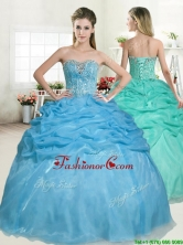 Best Selling Beaded and Pick Ups Quinceanera Dress in Baby Blue YYPJ051FOR