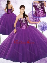 Discount Ball Gown Quinceanera Dresses with Beading and Sequins SJQDDT466002FOR