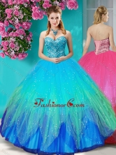 Discount Beaded Rainbow Quinceanera Dress with Really Puffy SJQDDT610002FOR