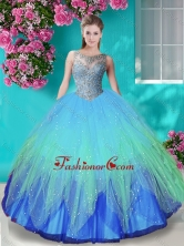 Discount See Through Beaded Bodice Quinceanera Dress in Gradient Color SJQDDT676002FOR