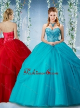 Elegant Beaded and Ruffled Big Puffy Quinceanera Dress in Baby BlueSJQDDT576002FOR