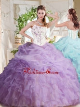 Fashionable Asymmetrical Visible Boning Beaded Sweet 16 Dress with Ruffles and Bubbles SJQDDT696002FOR