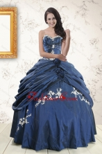 Gorgeous Sweetheart Ball Gown Quinceanera Dresses in Navy Blue XFNAO693FOR