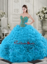Latest Beaded and Ruffled Baby Blue Quinceanera Dress with Chapel Train SJQDDT518002FOR