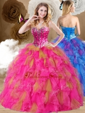 Lovely Ball Gown Sweetheart Ruffles Quinceanera Dresses in Multi Color QDDTP1002-1FOR