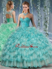 Lovely Big Puffy Quinceanera Dress with Beading and RufflesSJQDDT568002FOR