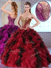 Most Popular Sweetheart Quinceanera Gowns with Appliques and Ruffles QDDTO2002FOR
