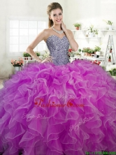 New Arrivals Beaded Bodice and Ruffled Quinceanera Dress in Organza YYPJ065-2FOR