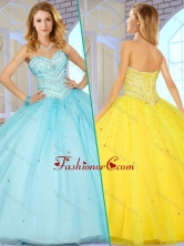 New Style Sweetheart Quinceanera Dresses with Beading for 2016 SJQDDT380002-2FOR