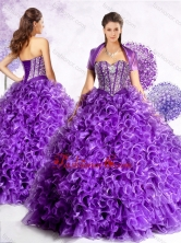 New Style Sweetheart Quinceanera Gowns with Beading and Ruffles  SJQDDT449002FOR