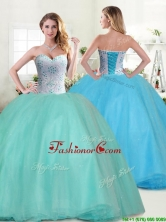 Perfect Big Puffy Apple Green Quinceanera Dress with Beading YYPJ030FOR