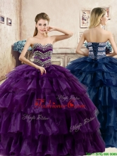 Perfect Big Puffy Organza Quinceanera Dress with Beading and Ruffled Layers YYPJ040FOR