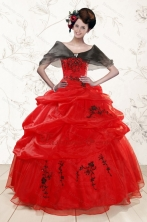 Perfect Sweetheart Red Quinceanera Dresses for 2015 XFNAO508BFOR