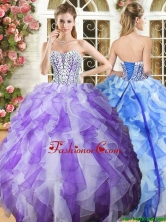 Popular Beaded Bodice and Ruffled Quinceanera Dress in Organza YSQD011FOR
