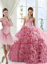 Romantic Beaded and Rolling Flowers Detachable Sweet 16 Dresses with Brush TrainSJQDDT553002-1FOR