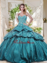 The Most Popular Really Puffy Quinceanera Gown with Beading and Pick Ups SJQDDT717002FOR