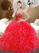 Top Selling Sweetheart Sweet 16 Dresses with Beading and Ruffles SJQDDT482002FOR