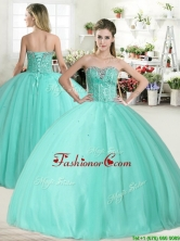 Wonderful Apple Green Quinceanera Dress with Beading for Spring YYPJ050-1FOR