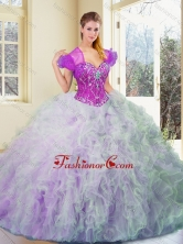 2016 Exquisite Multi Color Sweet 16 Dresses with Beading and Ruffles SJQDDT370002FOR