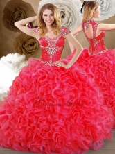 2016 Gorgeous Sweetheart Quinceanera Dresses with Beading and Ruffles SJQDDT469002FOR
