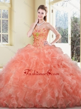 2016 New Arrivals Ball Gown Beading and Ruffles Sweet 16 Dresses SJQDDT389002FOR