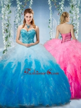Artistic Gradient Color Big Puffy Quinceanera Gown with Beading and RufflesSJQDDT575002FOR