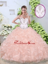 Beautiful Ball Gown Quinceanera Gowns with Beading and Pick Ups SJQDDT355002FOR