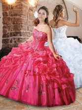 Classical Strapless Applique and Bubble Quinceanera Dress in Organza XFQD1036FOR