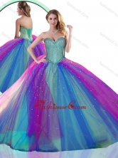 Colorful Multi Color Quinceanera Dress with Beading SJQDDT509002FOR