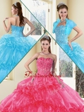 Fashionable Ball Gown Quinceanera Gowns with Beading and Ruffled Layers QDDTD38002A-1FOR