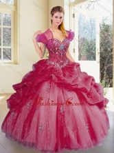 Fashionable Sweetheart Pick Ups and Appliques Quinceanera Dresses SJQDDT360002-1FOR