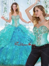 Luxurious Really Puffy Rhinestoned and Ruffled Detachable Sweet 16 Dress  SJQDDT541002AFOR