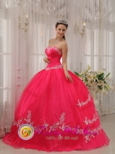 Moyobamba Peru Stylish Wholesale Fushia Sweetheart Appliques Decorate 2013 Quinceanera Dresses Party Style for ormal Evening Style QDZY566FOR