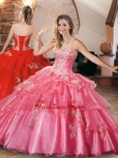 New Style Applique and Beaded Quinceanera Dress in Organza XFQD1040FOR