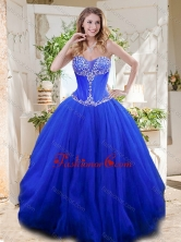 New Style See Through Sweetheart Blue Quinceanera Gown with Beading SJQDDT713002FOR