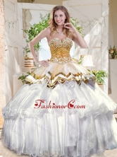 Pretty Big Puffy Sweet 16 Dress with Beading and Ruffles Layers SJQDDT705002FOR