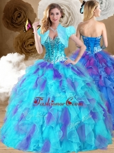 Sweet Ball Gown Sweetheart Ruffles Sweet 16 Dresses in Multi Color QDDTP1002FOR